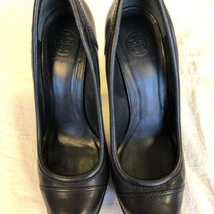 Black Leather Tory Burch Size 11M